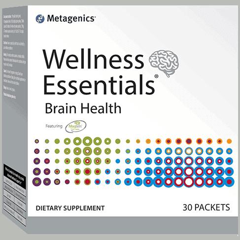 A box of Wellness Essentials Brain Health packets